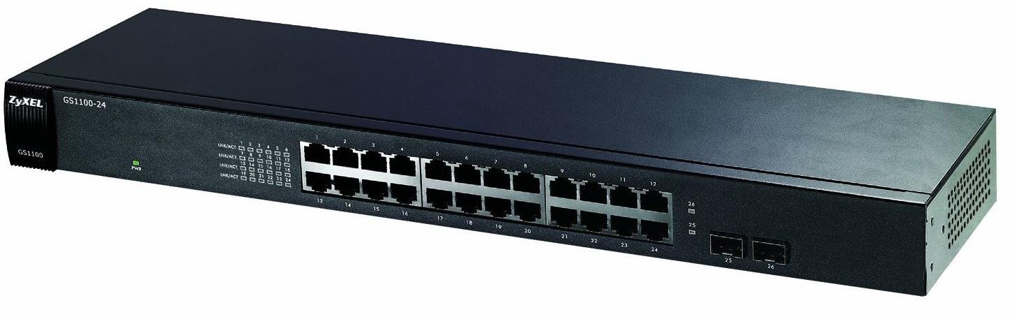 Zyxel GS-1100-24 24-Port Gigabit Ethernet Unmanaged Switch