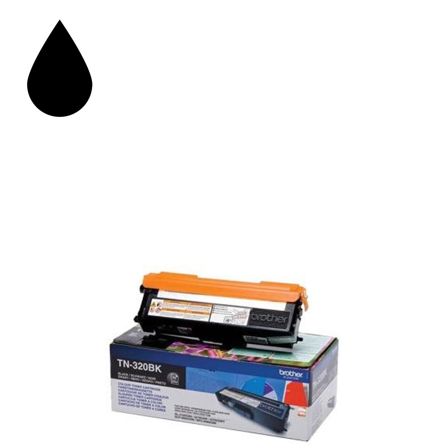Brother TN-320BK Toner Cartridge - Black