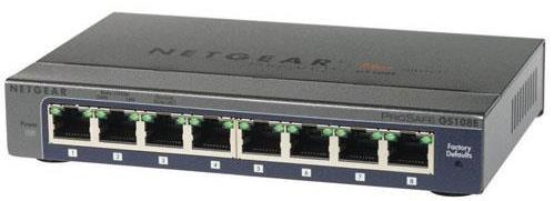 Netgear ProSafe GS108E 8 Port Network Ethernet Switch - 8 Port (8 x 10/100/1000Base-T)