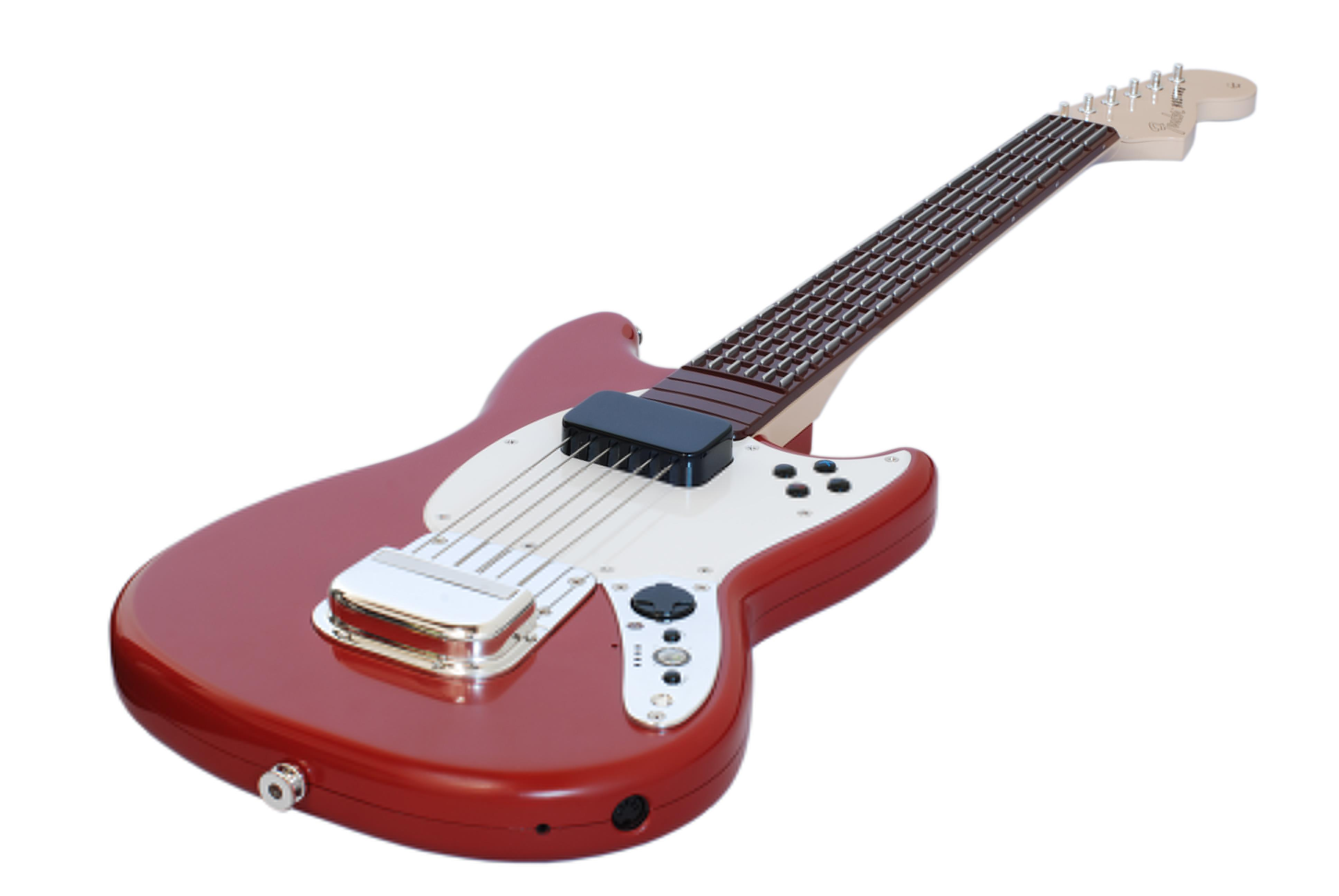 Mad Catz Rock Band 3 Wireless Fender Mustang PRO-Guitar Controller (Red) for Wii