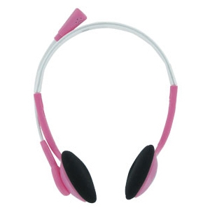 Trust Primo 17387 Wired Stereo Headset - Over-the-head - Semi-open - Pink