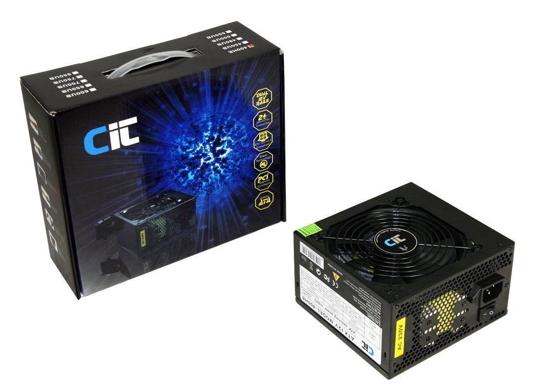 400W CiT HE Black Edition PSU with 12cm Fan SATA Power Supply PSU