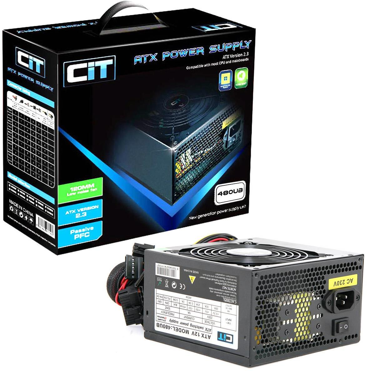 Cit 480W Black Edition PSU