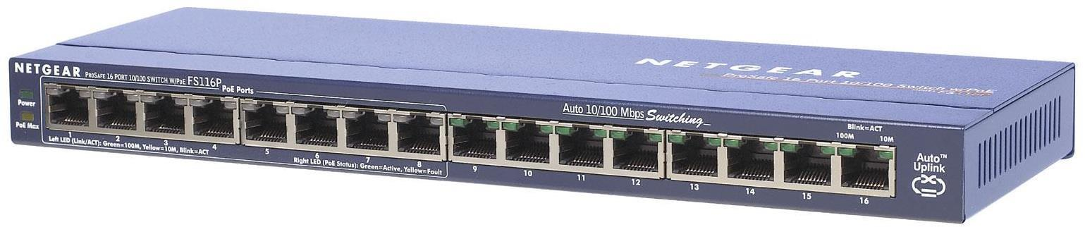 Netgear ProSafe FS116P 16 Ports Ethernet Switch