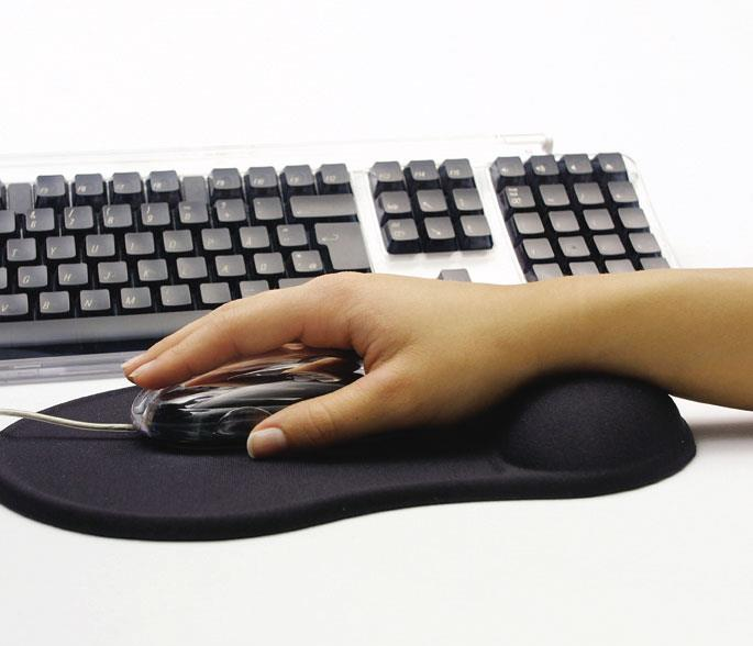 Sandberg Gel Mouse Pad with Wrist Rest - Black