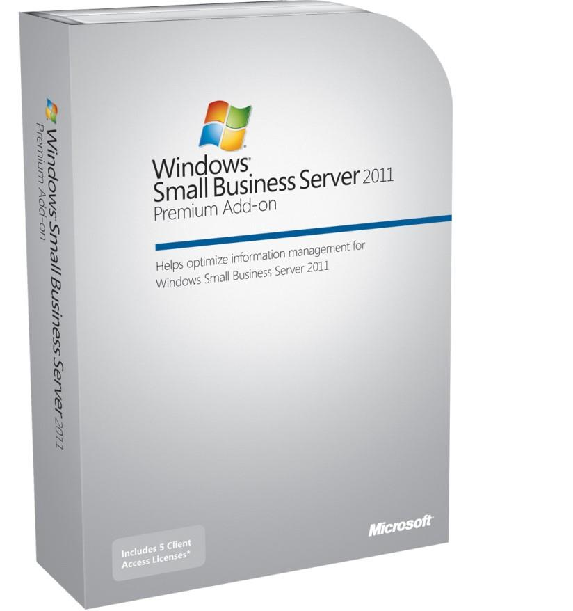 Microsoft Windows Small Business Server 2011 Premium 64-bit Add-on CAL Suite - Licence - 5 User CAL