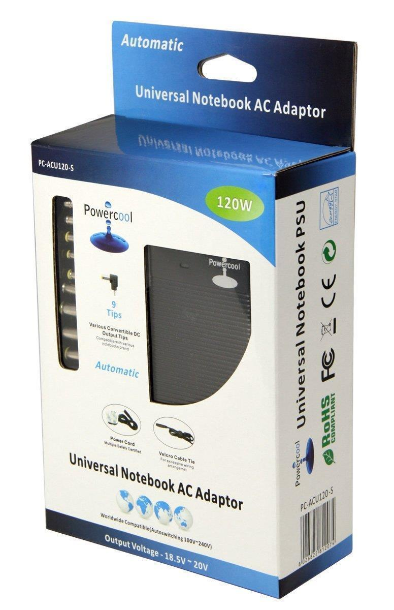 Powercool 120W Universal Ac Adaptor for Notebooks Was £39.97
