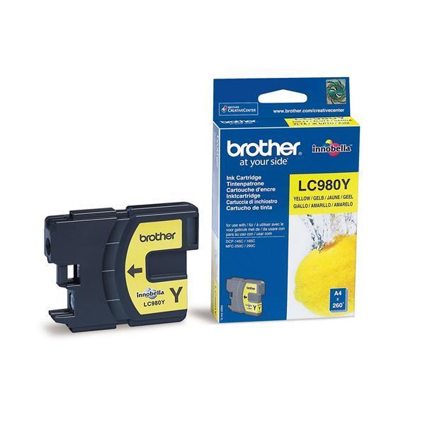 Brother LC-980Y Ink Cartridge - Yellow (Inkjet - 260 Page)