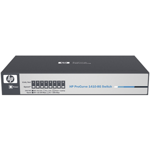 HP ProCurve 8 Port Gigabit 1410-8G Ethernet Switch - 8 Port - 8 x 10/100/1000Base-T