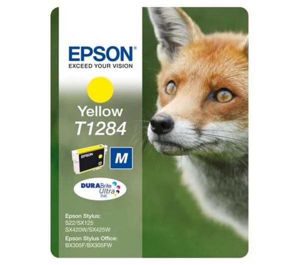 Epson DURABrite T1284 Fox Ink Yellow Cartridge