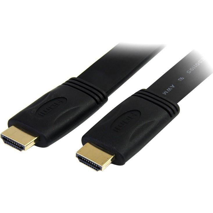 StarTech.com 3 ft Flat High Speed HDMI Cable with Ethernet - HDMI to HDMI - M/M