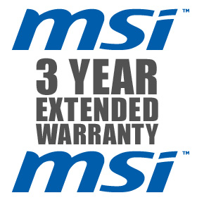 3 Year Collect & Return Warranty For MSI Products - HALF PRICE