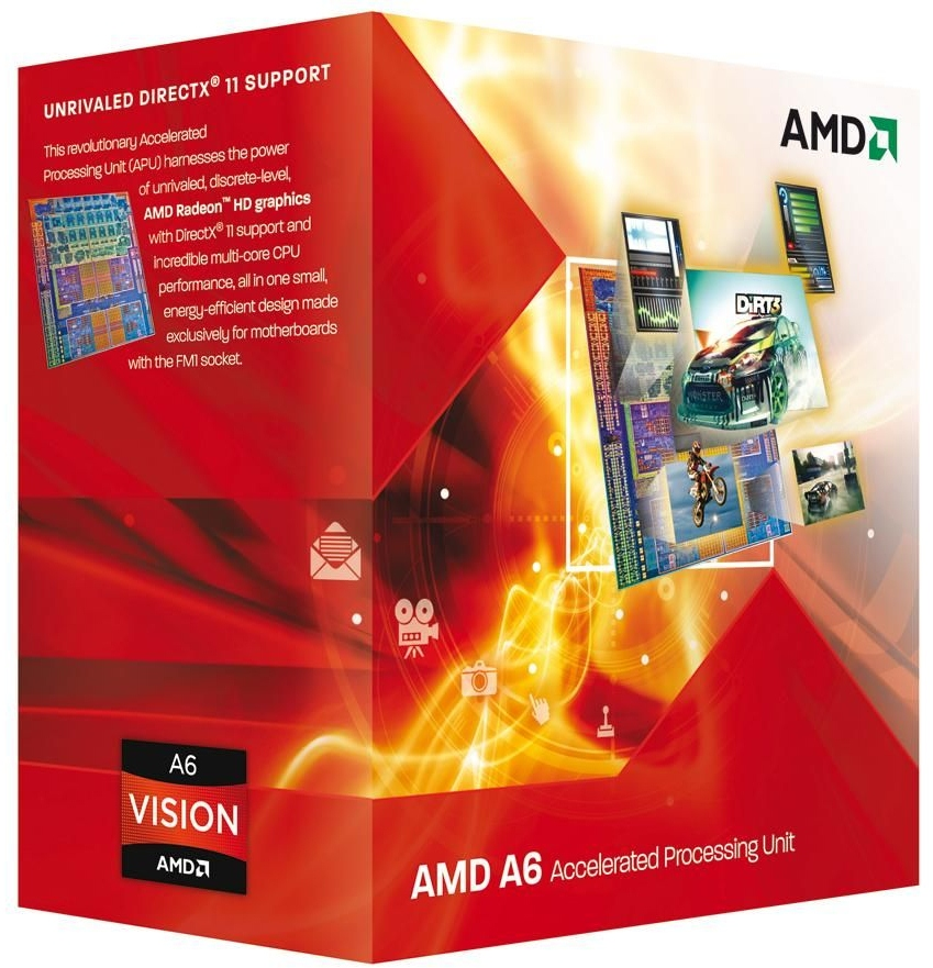 AMD A6-3500 Triple Core Socket FM1 Processor