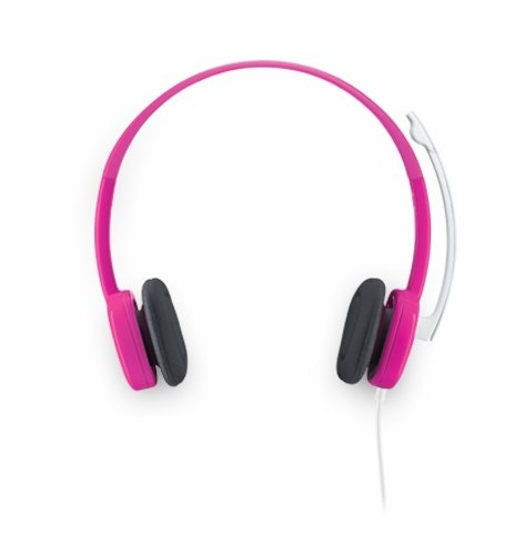 Logitech H150 Wired Stereo Headset (Pink)