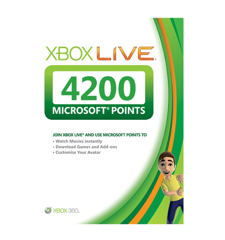 Microsoft Xbox Live 4200 Points Card