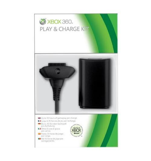 Microsoft Xbox 360 Play and Charge Kit (Black)