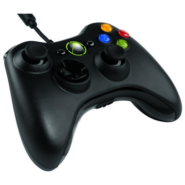 Microsoft Xbox 360 Wired Gamepad (Black)