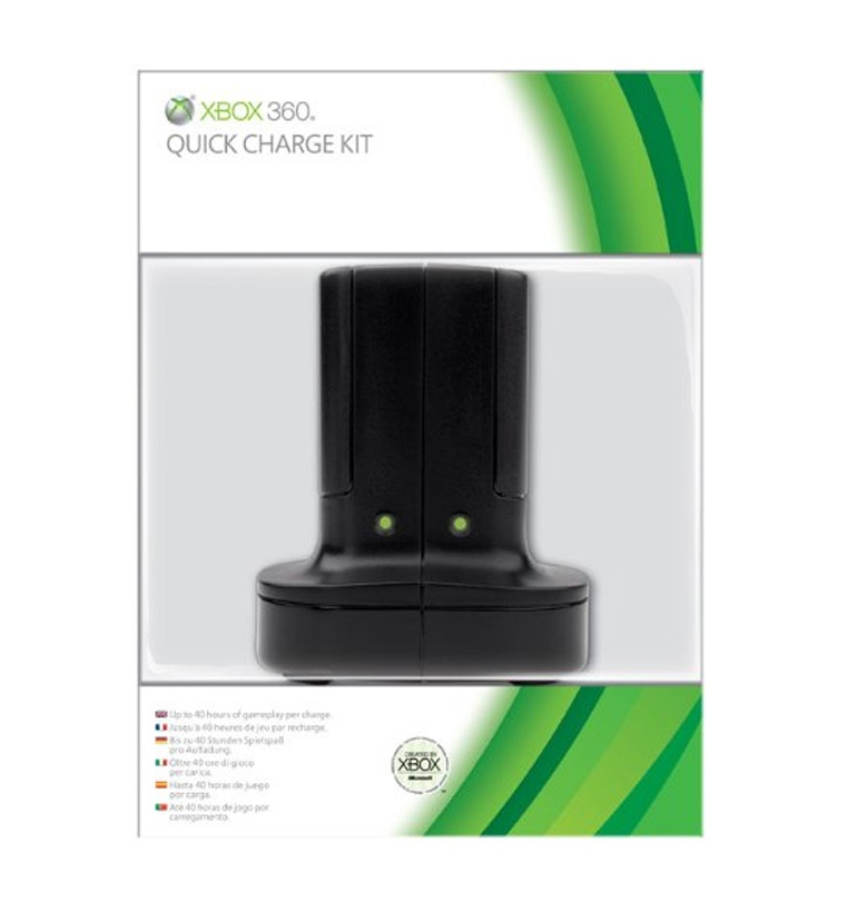Microsoft Xbox 360 Quick Charge Kit (Black)