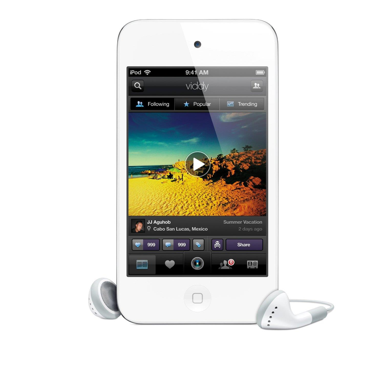 Apple iPod Touch 64Gb 4th Gen (White) + Free Proporta Antimicrobial Silicone Case worth £9.95