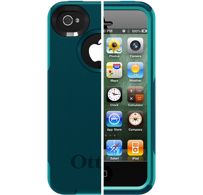 Otterbox iPhone 4 / 4S Commuter Series Case (Deep Teal / Light Teal)