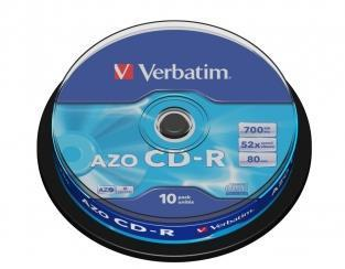 Verbatim DataLifePlus 43429 CD Recordable Media - CD-R - 48x - 700 MB - 10 Pack Jewel Case