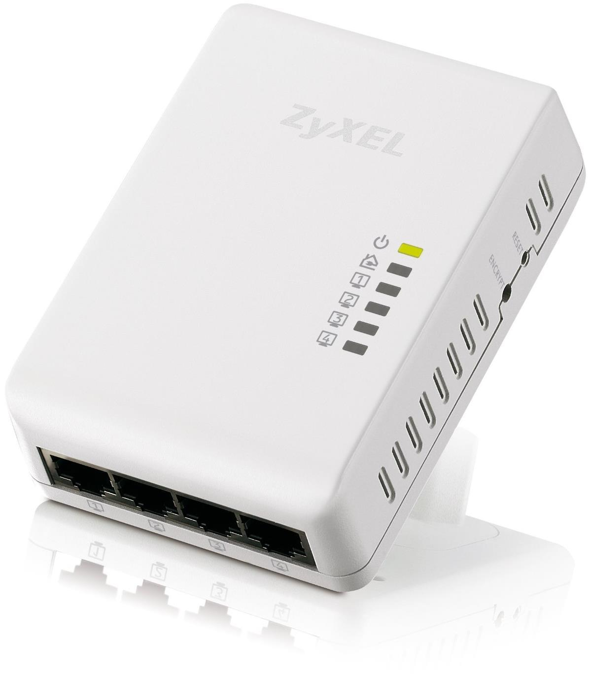 Zyxel PLA4225 500Mbps Powerline Mains 4-Port Gigabit RJ45 Switch