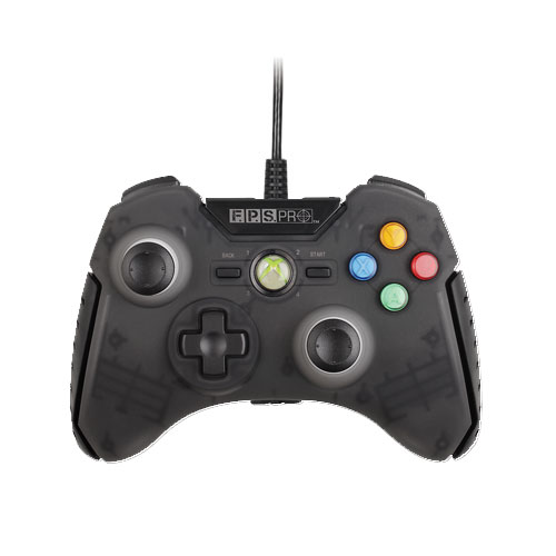 Mad Catz Officially licensed F.P.S. Pro Wired GamePad for Xbox 360® - Stealth Black