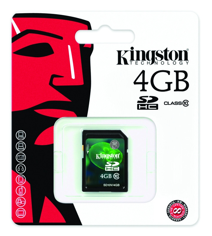 Kingston 4GB Class 10 SDHC Video Memory Card