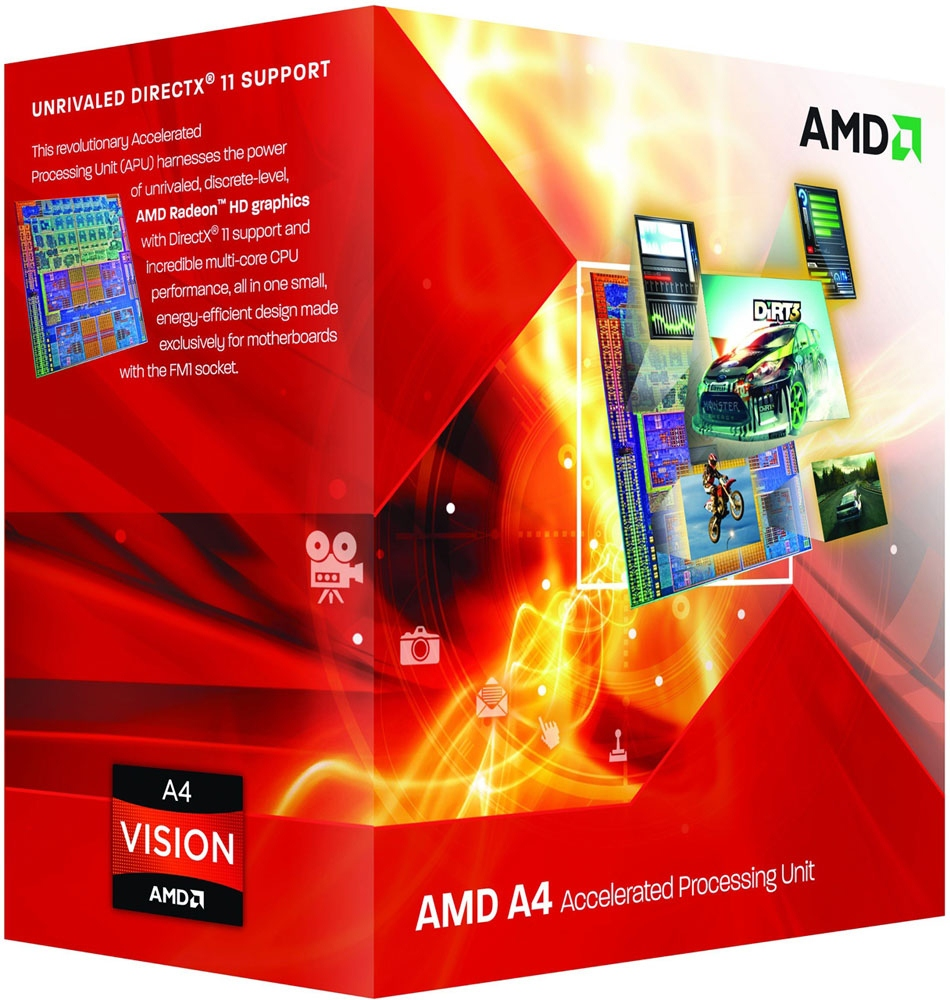 AMD A4-3300 Dual Core Socket FM1 Processor