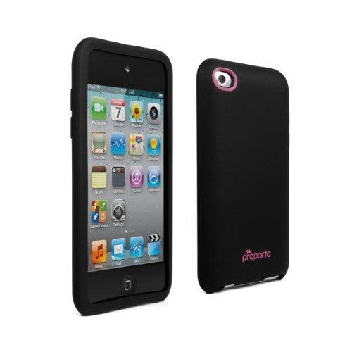 proporta Antimicrobial Silicone Case (Apple 4G/5G iPod touch) Black / Pink