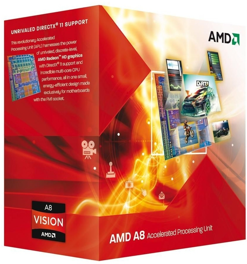 AMD A8 3870K 3.0Ghz Socket FM1 Processor and Fan AD3870WNGXBOX