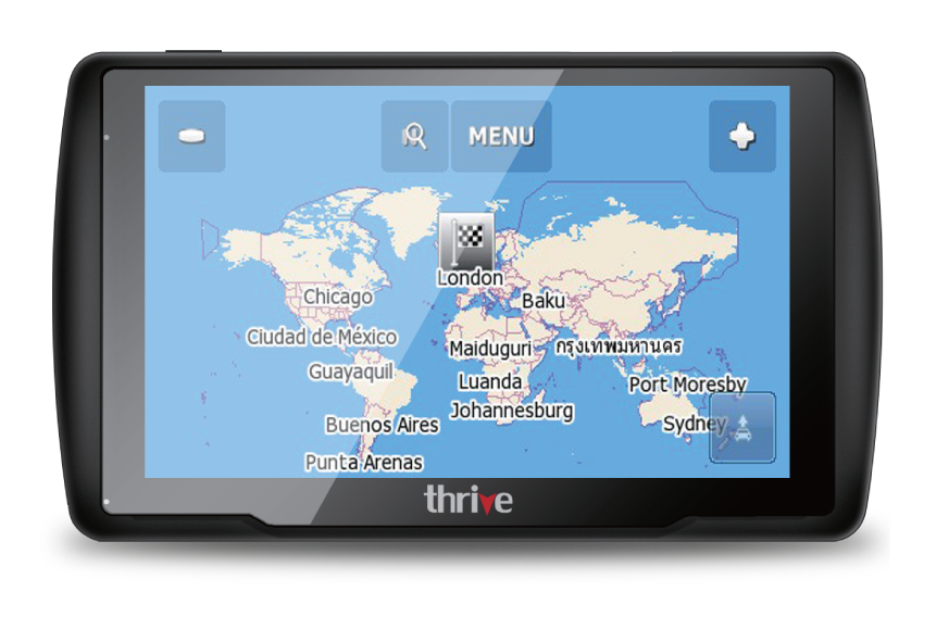 "Thrive 5"" Satellite GPS Navigation System SAT Nav GPS Device New"