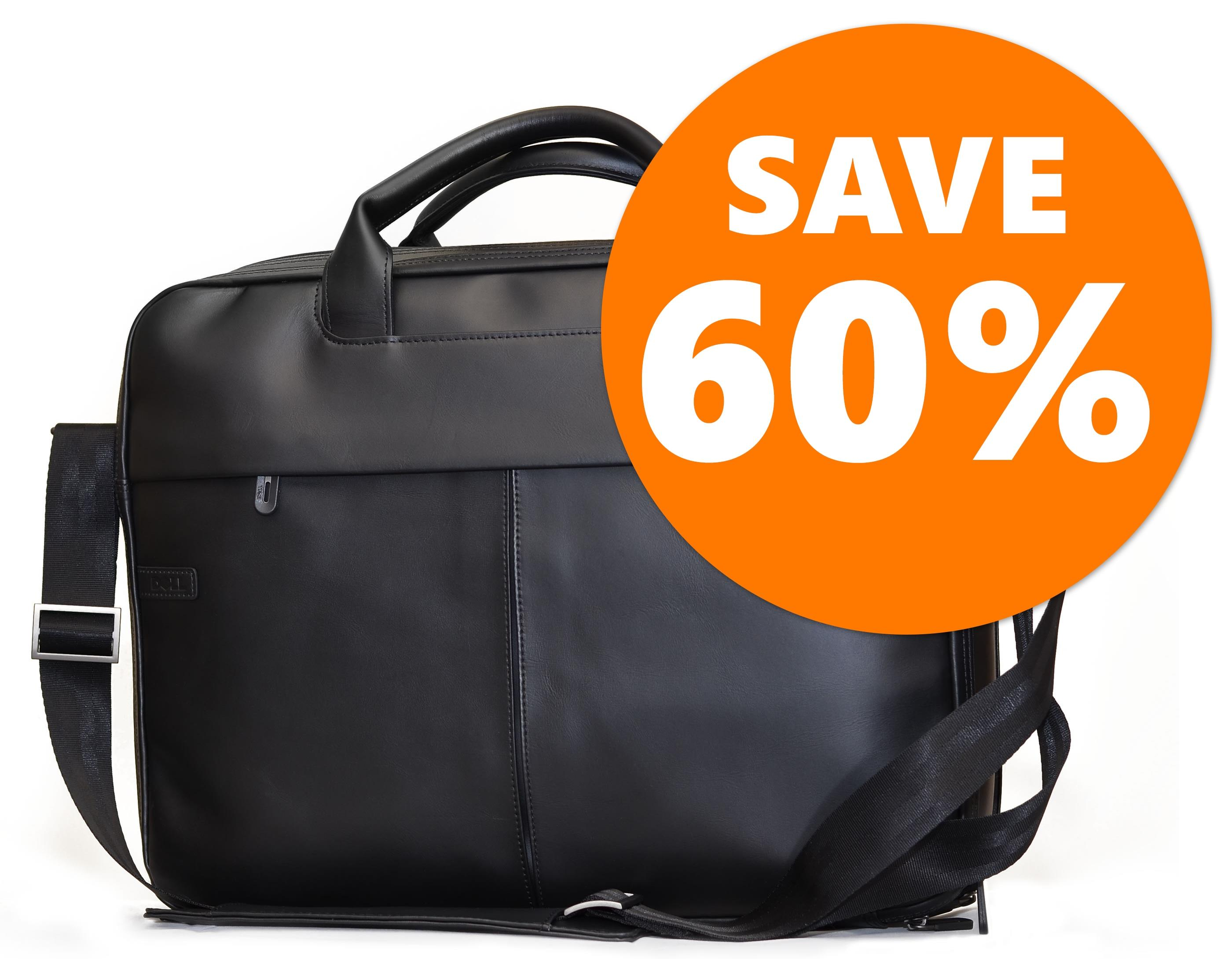 "Soft Leather Executive Laptop Bag made by Targus - Designed for 15.6"" Laptops (suitable for upto 17.3"") RRP £79.99"