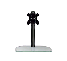 BTech BT7331 Flat Screen Desk Mount With Glass Base Black