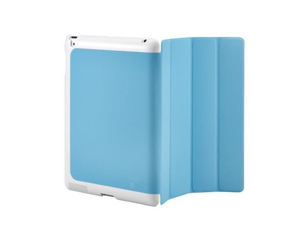 Cooler Master CM Mobile Wake Up iPad 2 Or The New iPad (2012 Model) Smart Cover + Back Case (Blue)