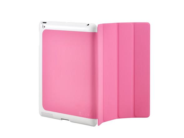 Cooler Master CM Mobile Wake Up iPad 2 Or The New iPad (2012 Model) Smart Cover + Back Case (Pink)