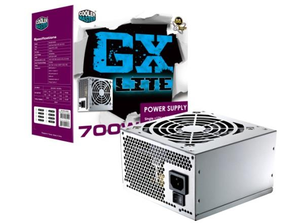 Cooler Master Gx Lite 700W 86%  Single 12V Rail Power Supply PSU