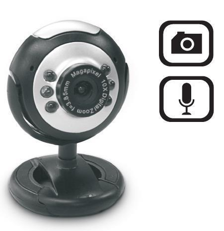 Dynamode Webcam 2MP with Mic USB Laptop PC Notebook