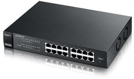Zyxel ES1100-16P 16-port FE Unmanaged PoE Switch
