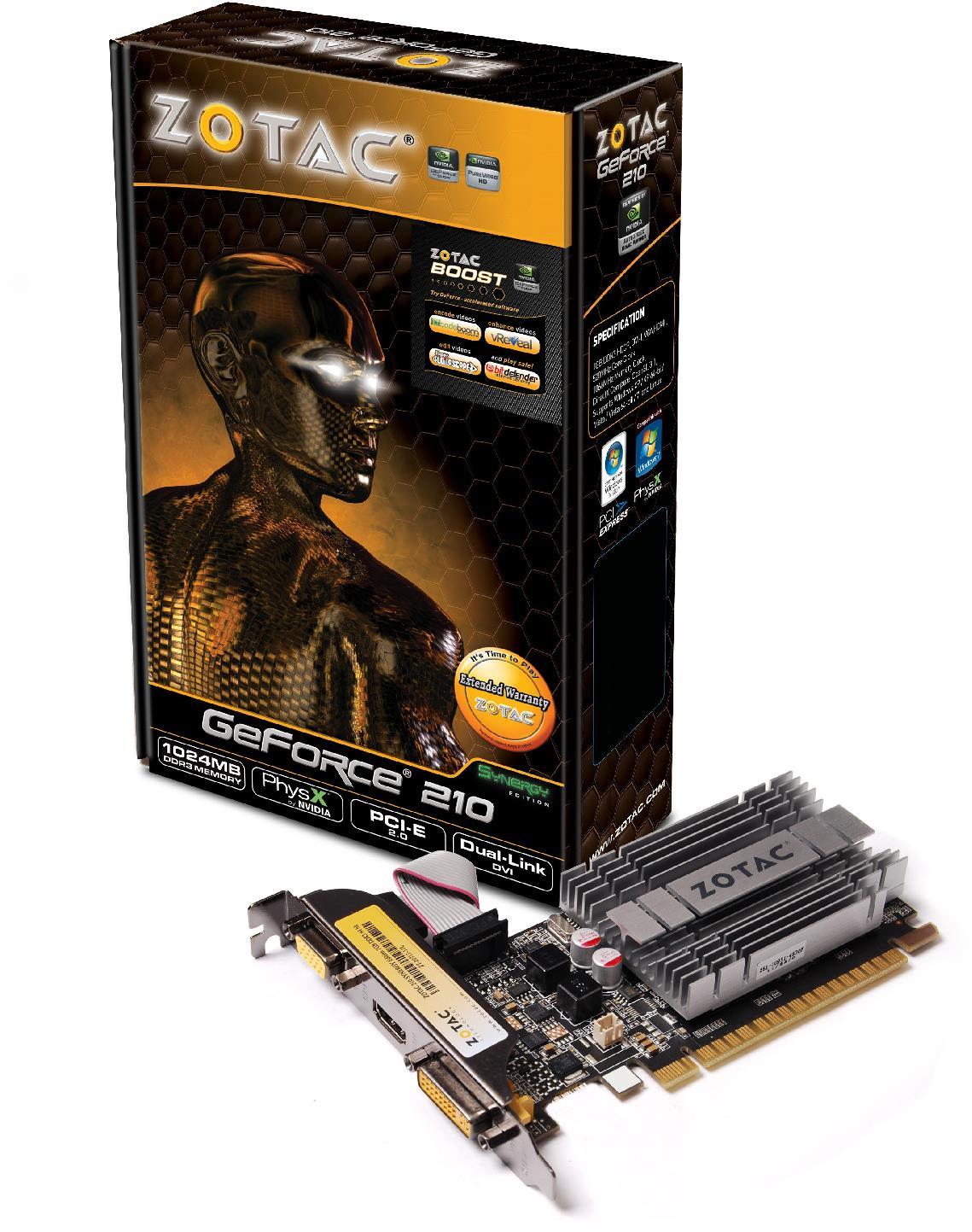 Zotac GeForce 210 Synergy Edition PCI-Express Graphics Card