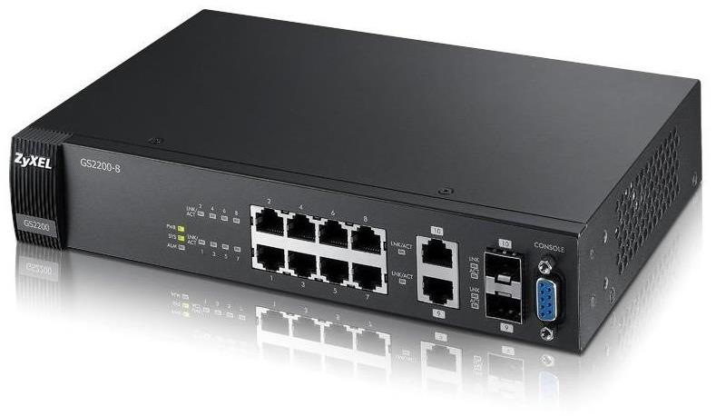 Zyxel GS2200-8 8 Ports Manageable Ethernet Switch