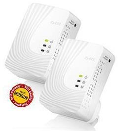 Zyxel 500Mbps V2 Mini Mains Ethernet Powerline Pair Kit
