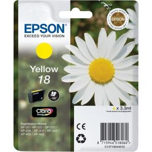 Epson 18 Daisy Yellow Standard Capacity Cartridges