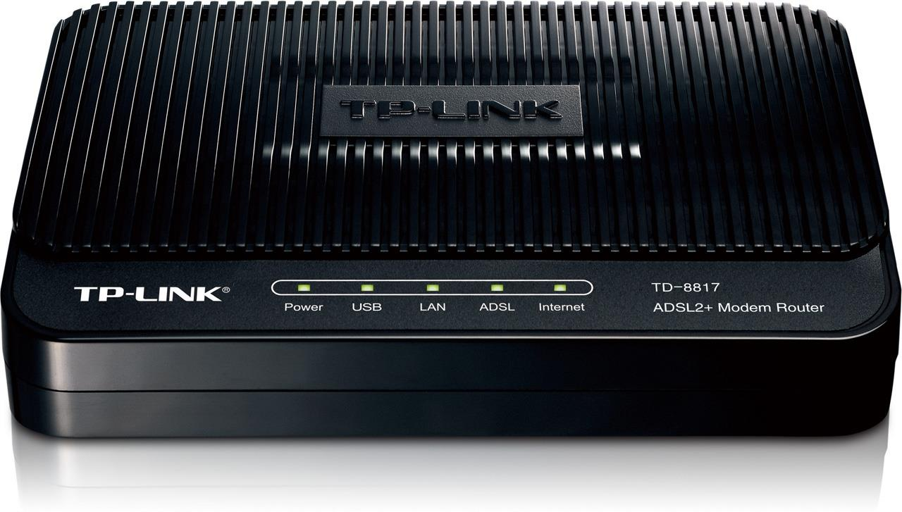 TP-Link TD-8817 ADSL2+ Wired Ethernet/USB Modem Router