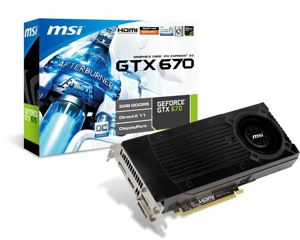 MSI Nvidia Geforce GTX670 PCI-Express Graphics Card