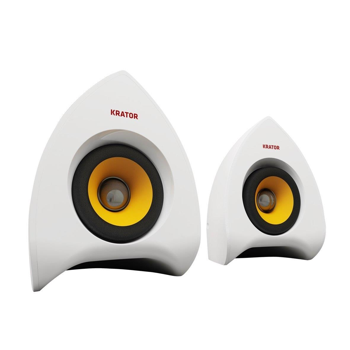 Krator N4-20U03W Neso White Portable USB Speakers
