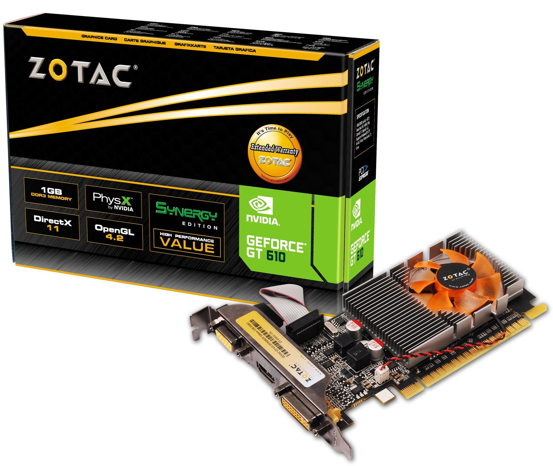 Zotac GeForce GT 610 Synergy Edition PCI-Express Graphics Card