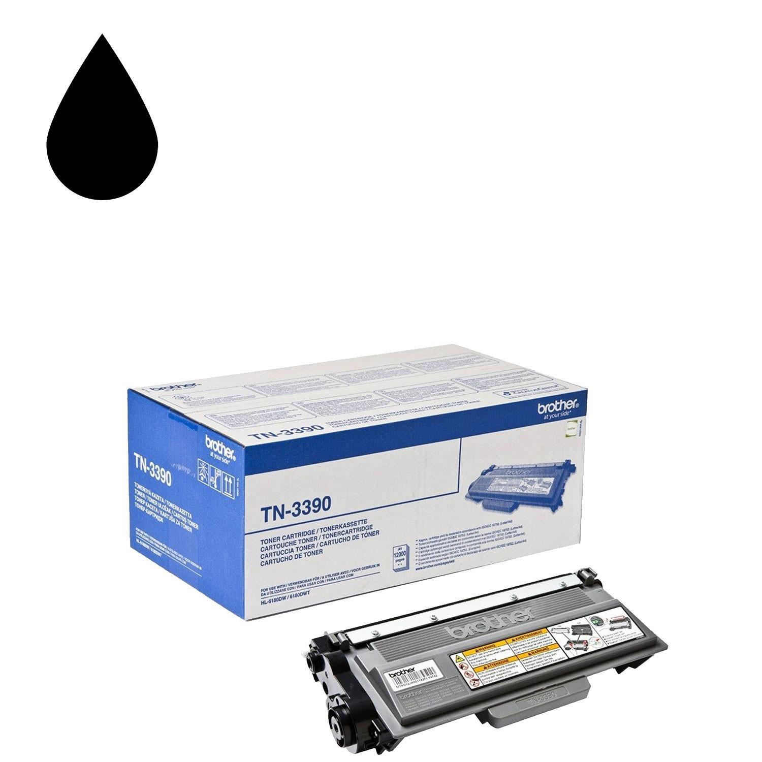 Brother Tn3390 TN-3390 Black Toner Super High Yield 12000 pages