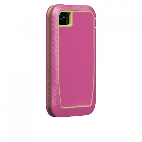 Case-mate Phantom Cases for Apple iPhone 4/4s in Raspberry & Lime