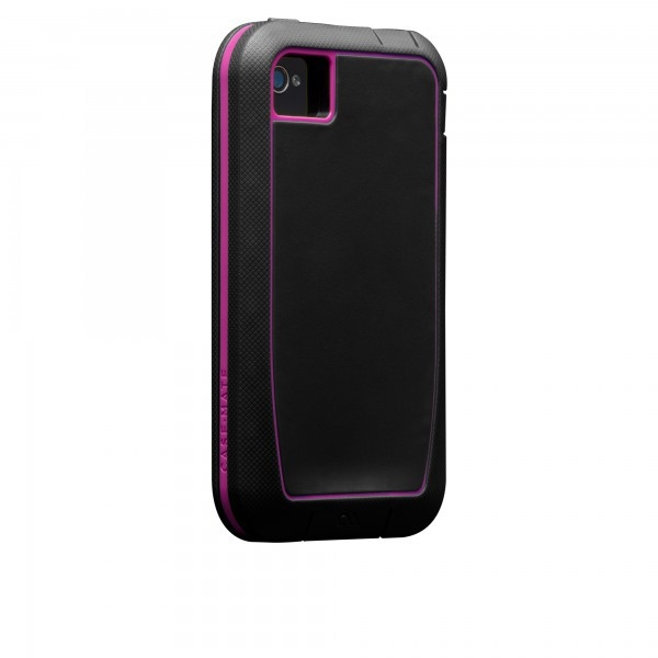 Case-mate Phantom Cases for Apple iPhone 4/4s in Black & Raspberry